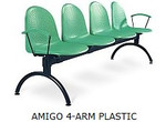 AMIGO 4-ARM PLASTIC BLACK