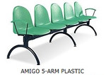 AMIGO 5-ARM PLASTIC BLACK